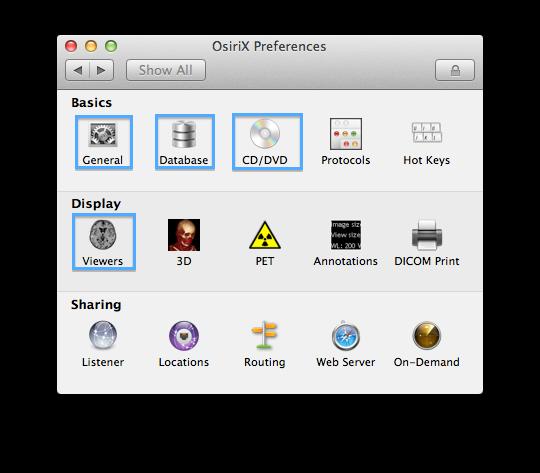 OsiriX Preferences